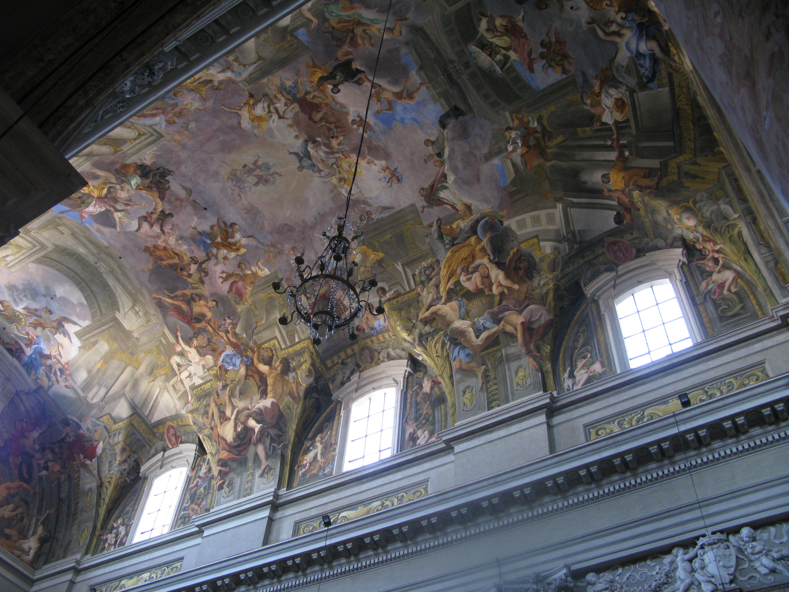 A year old fresco by andrea pozzo the entire ceiling